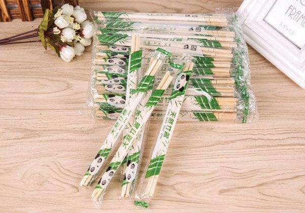 OPP包装竹筷,塑料包装一次性筷子