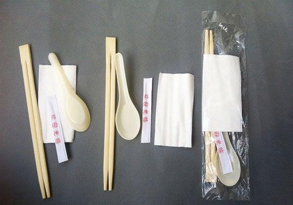 深圳厂家直销一次性筷子勺子牙签纸巾四件套餐具