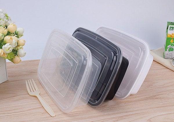 方形打包盒,PP快餐盒,一次性塑料饭盒