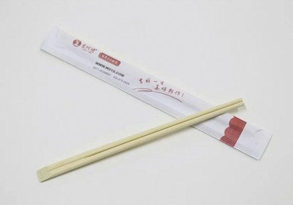 天削筷,纸套包装竹筷子