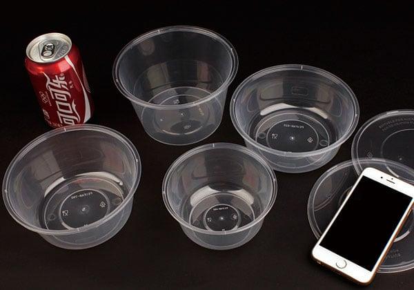 餐盒一次性圆形 外卖汤碗打包盒带盖 环保塑料便当饭盒